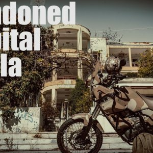 Abandoned hospital with Yamaha Tenere xt660z