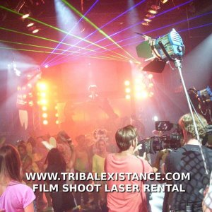 Film shoot laser lighting effect rental services worldwide by Tribal Existance Productions Worldwide